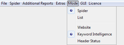 modes menu