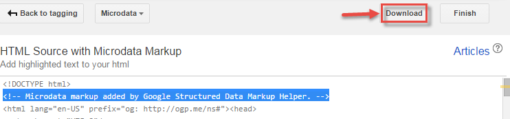 download html with schema