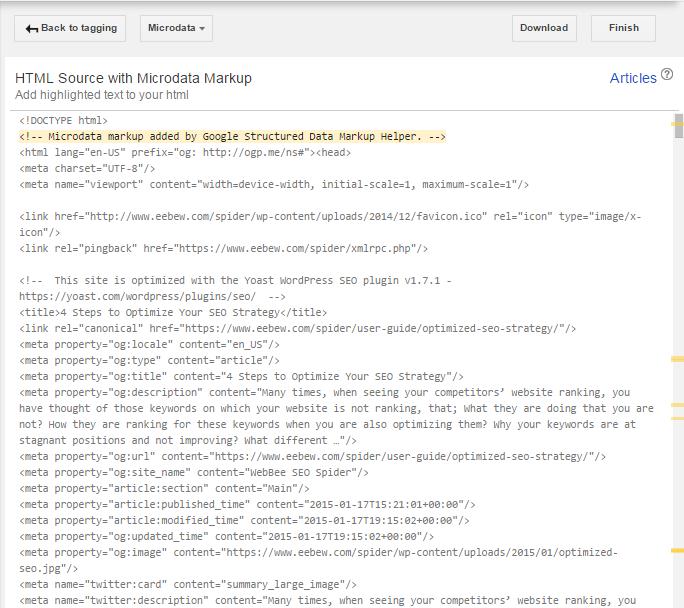 html with schema