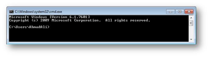 command promt window