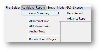 download advance crawl of summary