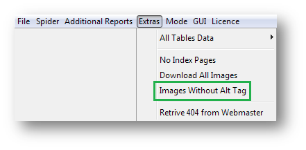 Images without alt tag