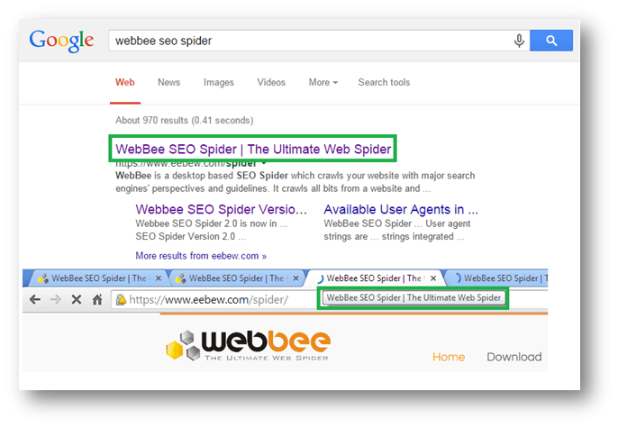 seo title in search engines