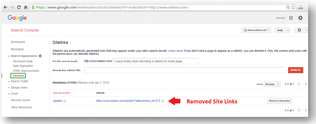unwanted seo site links removal