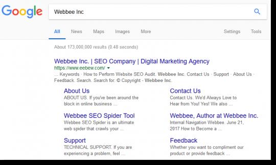 Webbee Site Links