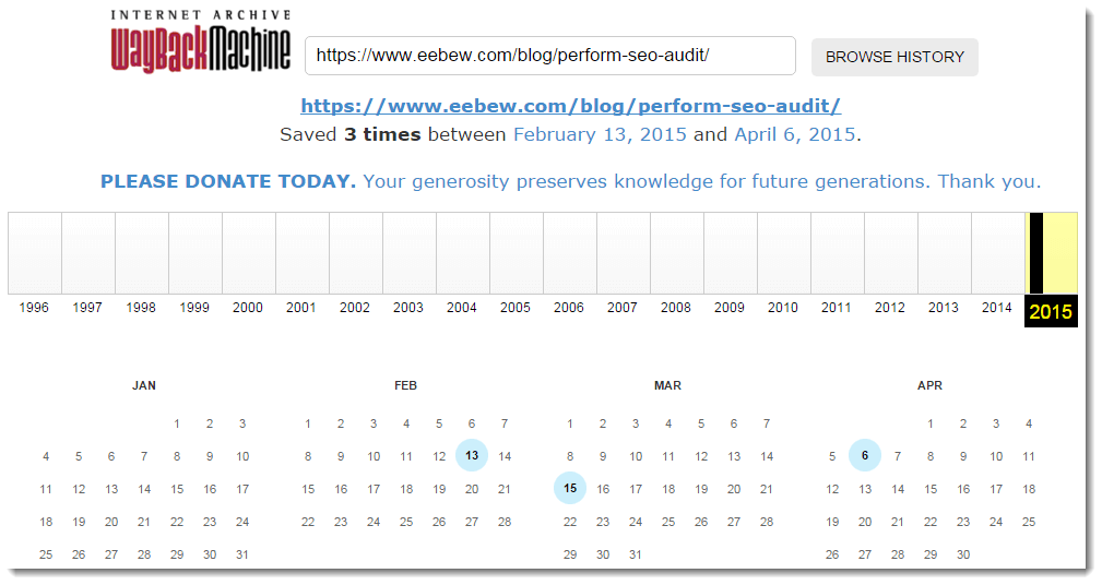 waybackmachine results