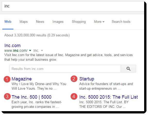 google-4-sitelinks