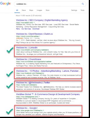 Webbee Social Profiles